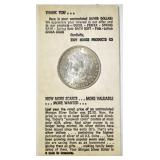 1884-O MORGAN DOLLAR IN TIDY HOUSE HOLDER