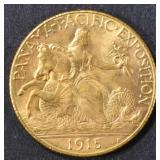 1915-S PAN PAC $2.5 GOLD COMMEM  CH/GEM BU