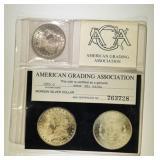 1885-O MORGAN DOLLAR  AGA CH/GEM BU