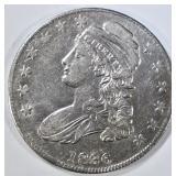 1836 LE BUST HALF DOLLAR  CH AU