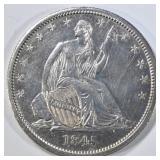 1845-O ND SEATED LIBERTY HALF DOLLAR  AU/BU