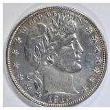 1913 BARBER HALF DOLLAR  AU/BU