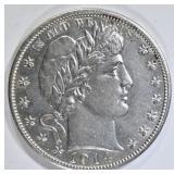 1914-S BARBER HALF DOLLAR  CH BU