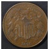 1871 2 CENT PIECE VF