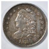 1833 BUST HALF DIME AU