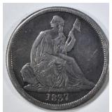 1837 SEATED LIBERTY DIME VF