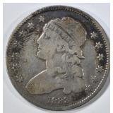 1833 BUST QUARTER VG
