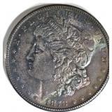 1878-S MORGAN DOLLAR AU/BU COLOR/TONING