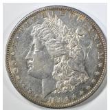 1884-S MORGAN DOLLAR  CH AU, GOOD LUSTER IN FIELDS