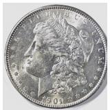 1901 MORGAN DOLLAR AU/BU SLIGHT RIM ISSUE OBV