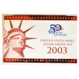 2003 U.S. SILVER PROOF SET ORIG PACKAGING
