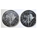 2-2015 1oz SILVER AUSTRIA PHILHARMONIC COINS