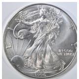 1996 BU AMERICAN SILVER EAGLE BETTER DATE