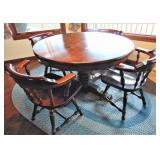 Ethan Allen Old Tavern Round Table & 4 Chairs