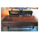 Ethan Allen Coffee Table & 2 End Tables