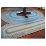 3 Oval Blue Braided Rug
