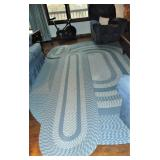 4 Varigated Blue Braided Rug