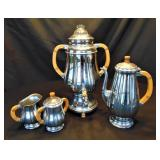 4 Pc Farber Bothers Krome-Kraft Coffee/Tea Set