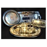 Silver Plate Serving Lot