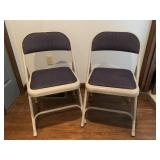 Metal Folding Chairs with Padded Seats