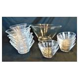 Clear Glass Salad/Berry Serving Bowls
