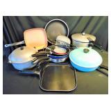 16 pc  Presto, T-Fal, Fiesta Pots and Pans