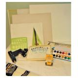 Painting Supplies, Glue Gun, Canvas, Woodburning