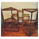 3 Wood Plant Stands