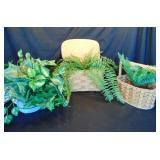 Baskets Wtih Artificial Plants