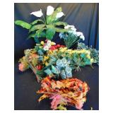 Lot of Artificial Flowers and Leaves