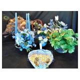 Lot of 7 Blue Flower Arrangements
