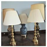 Lot of 5 Table Lamps