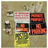 Padlocks, Signs(no parking, Trespassing) & String