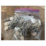 """Silver"" The Grey Striped Cat Beanie Baby"