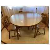 Kitchen Table, 2 Leaves, Chairs