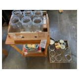 Canning Jars and Plant Stand/End Table
