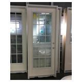 32in x 80in LH fiberglass 15 lite exterior door.