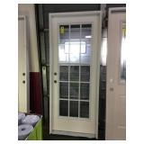 32in x 80in RH fiberglass 15 lite exterior door.