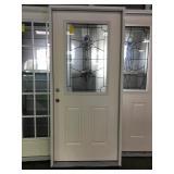 36in x 80in RH fiberglass 1/2 view exterior door.