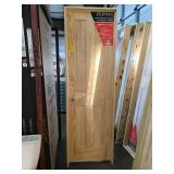 24in x 80in RH clear pine 4 panel interior door.