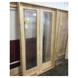 48in x 81in clear pine interior french door.