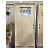 """36"""" LH Zinc Leaded Craftsman Ext Door."""