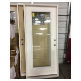 36in x 80in LH fiberglass full view exterior door.