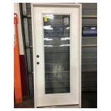 36in x 80in RH fiberglass full view exterior door.