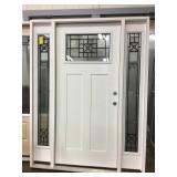 35in LH Black Leaded Craftsman Door w/ sidelites.