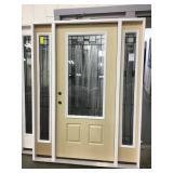 35in RH Fiberglass 3/4 view door w/side lites.