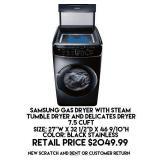 7.5cu.ft Samsung Gas Dryer