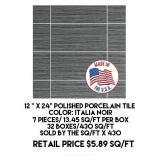 """12"""" x 24"""" Polished Porcelain Tile x 430 sq.ft"""