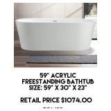 """59"""" Acrylic Freestanding Bathtub"""