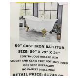 "59"" Cast Iron Bathtub"